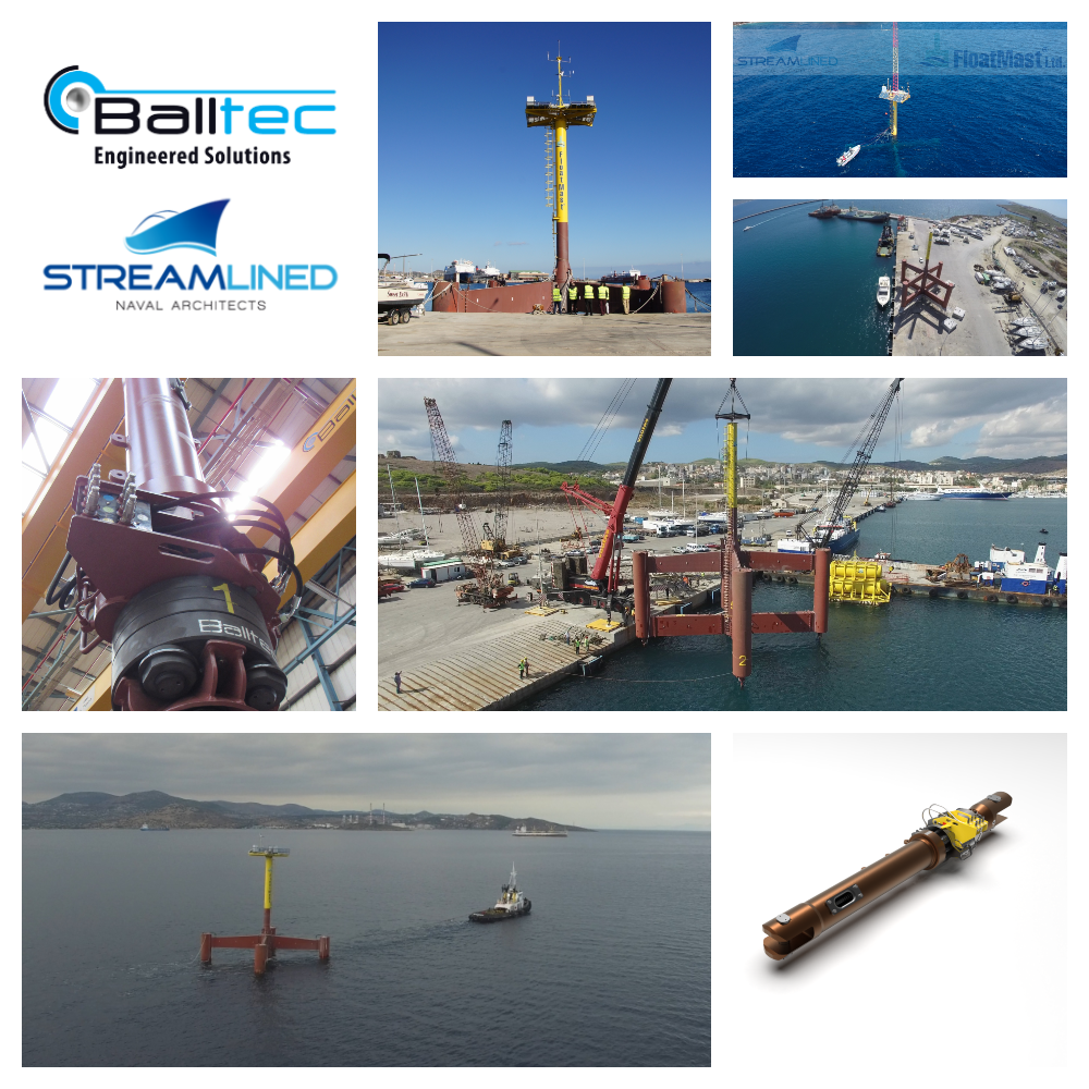 Balltec completes offshore installation of its adjustable mooring connectors for Streamlined's FloatMast Blue project